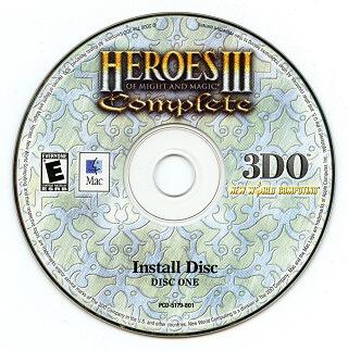 płyta z grą strategiczną Heroes 3